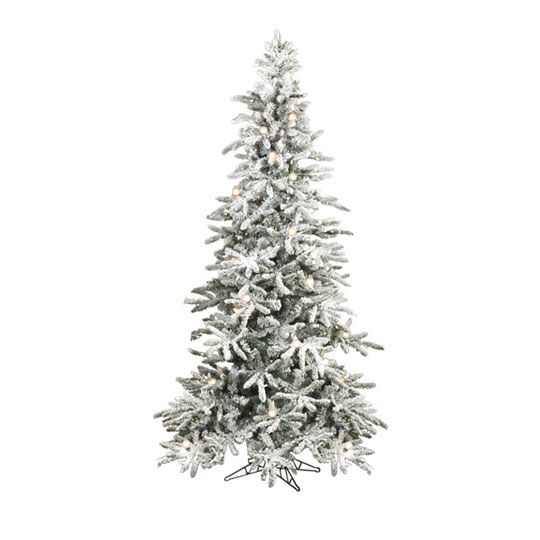 Raz 7 5 Ft Pre Lit Snowy Flocked Christmas Tree Flocked Christmas Trees Pre Lit Christmas Tree Artifical Christmas Tree