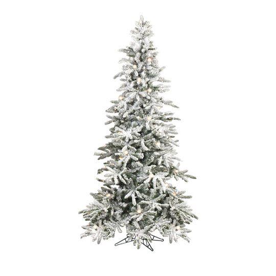 Raz 7 5 Ft Pre Lit Snowy Flocked Christmas Tree Pre Lit Christmas Tree Pine Christmas Tree Flocked Christmas Trees