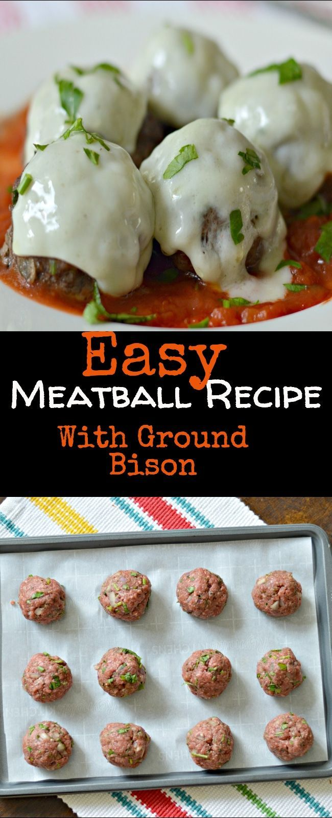 Photo of Easy Meatball Recipe (With Ground Bison and Fresh Herbs)