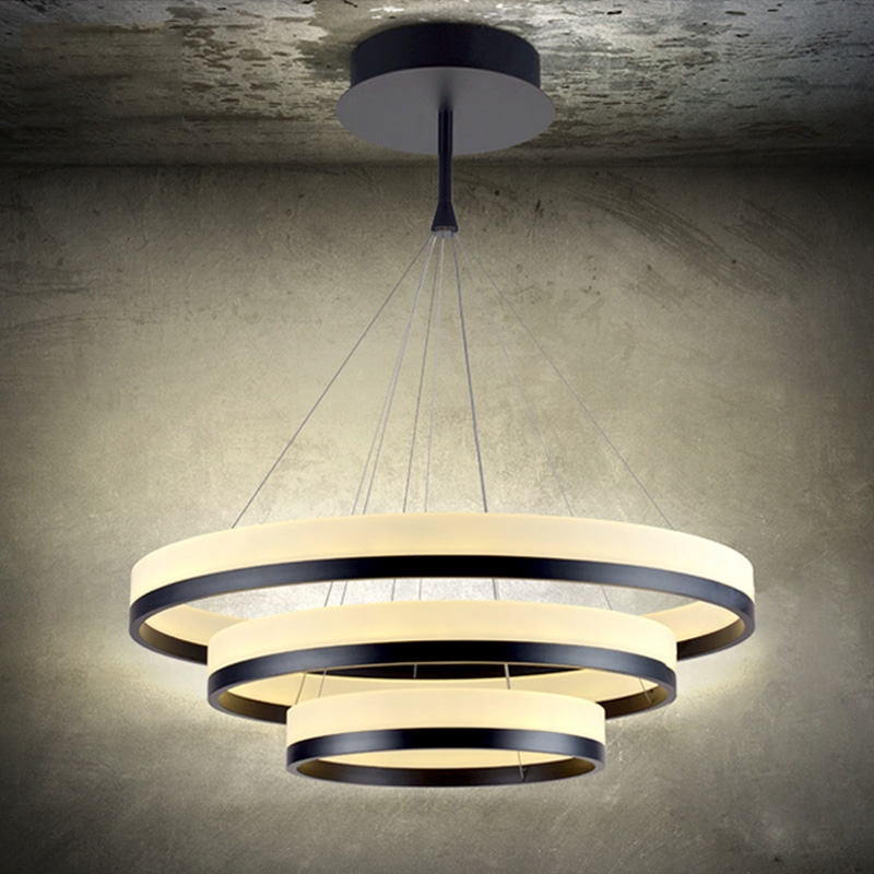 272.60$  Buy now - http://alid12.worldwells.pw/go.php?t=32536420091 - Warm White LED Acrylic Pendant Light Ring Lamp For Dining room  Restaurant with AC100 to 240V CE Rohs FCC VALLKIN 272.60$
