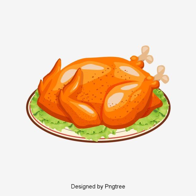 Kartun Tangan Dicat Ayam Panggang Gambar Vektor Dan Png Ayam Panggang Ayam Panggang