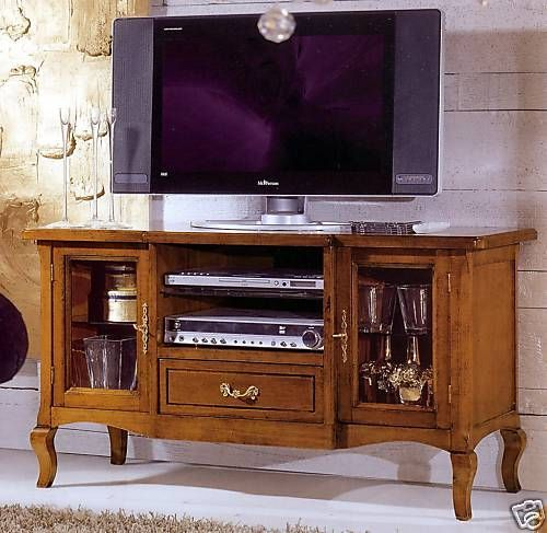 Porta Tv Classico Noce.Mobile In Legno Porta Tv Colore Noce Classico X Soggiorno