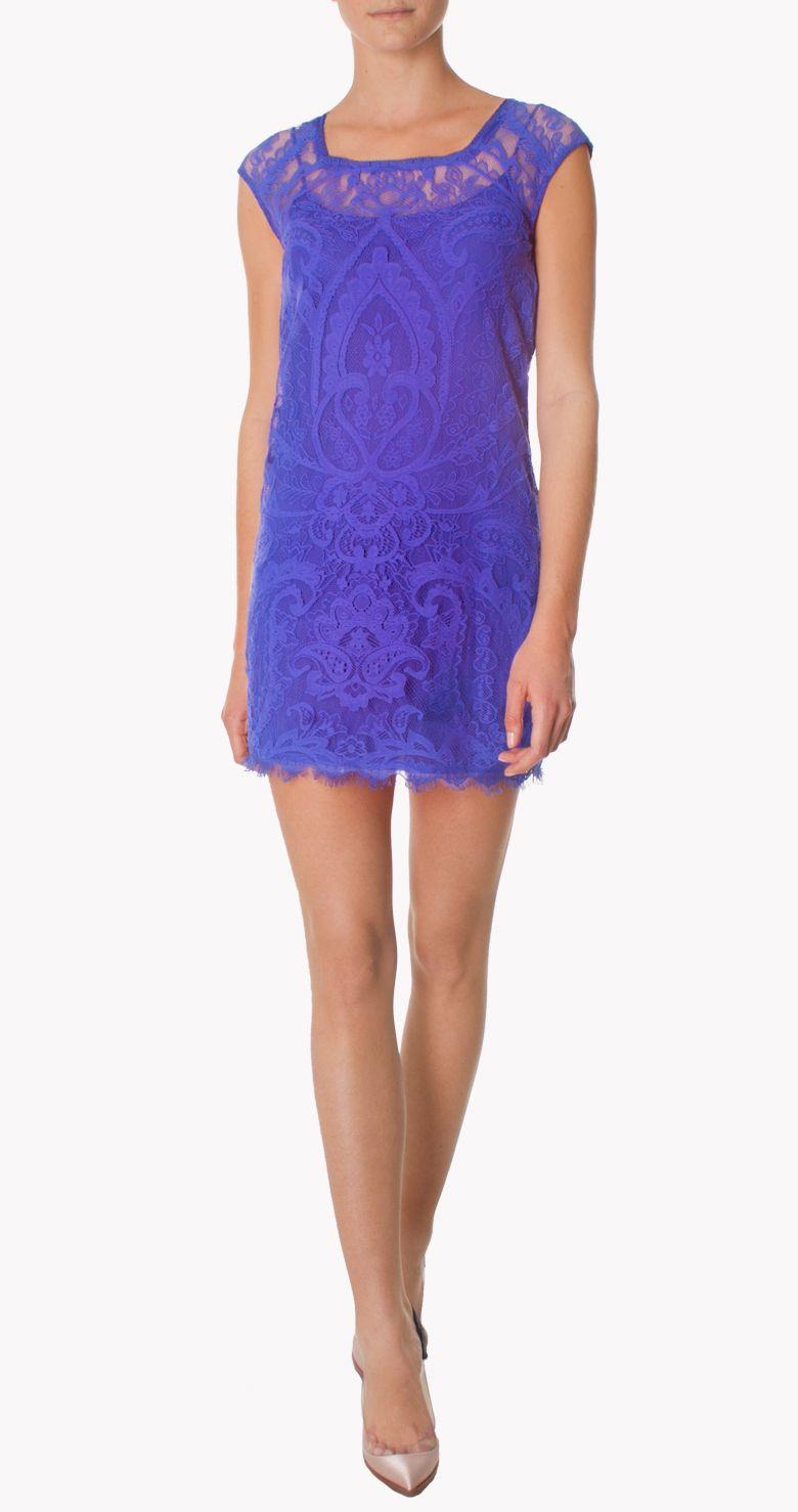 Alquiler Vestido azul klein | Nicole Miller | 24FAB | 883 | Boda ...