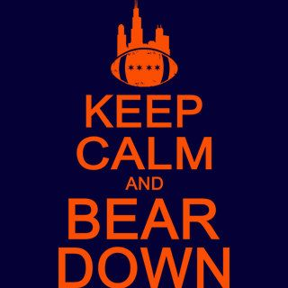 Keep Calm And Bear Down Tshirt Funny Retro Chicago By Bigtimeteez 14 95 Nfl Funny Chicago Bears Football Bears Football