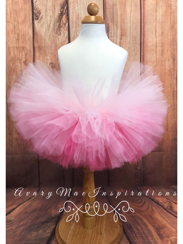 Pink Ombre Girls Tutu, Infant Tutu, Toddler Tutu, Baby Tutu, Pink Fluffy Tutu, Newborn Tutu, Smash Cake Photo Shoot, CUSTOM REQUESTS WELCOME