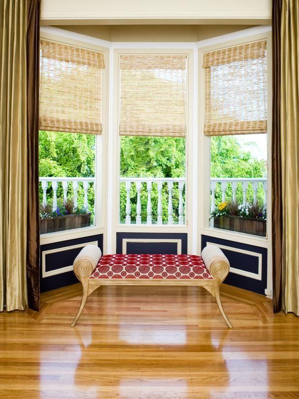 Creative Kitchen Window Treatments Hgtv Pictures Ideas: Woven Shades For Kitchen Bay Window