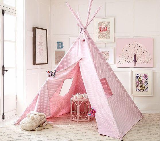 Pink Mini Dot Teepee Pottery Barn Kids Baby Furniture Teepee Kids