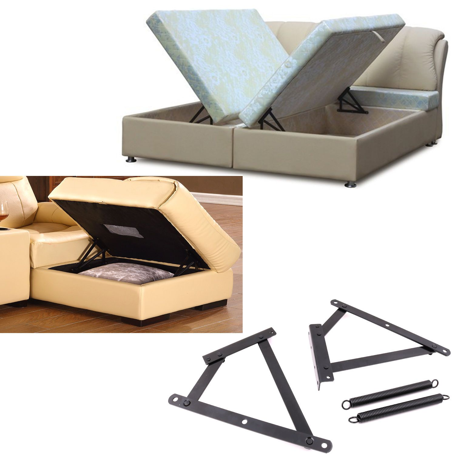Mechanisms Can Be Oriented To Open From The Side Of The Bed Or The End Of The Bed Comes With