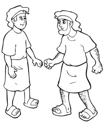 Image result for jacob and esau craft church pinterest for Jacob and esau reunite coloring page