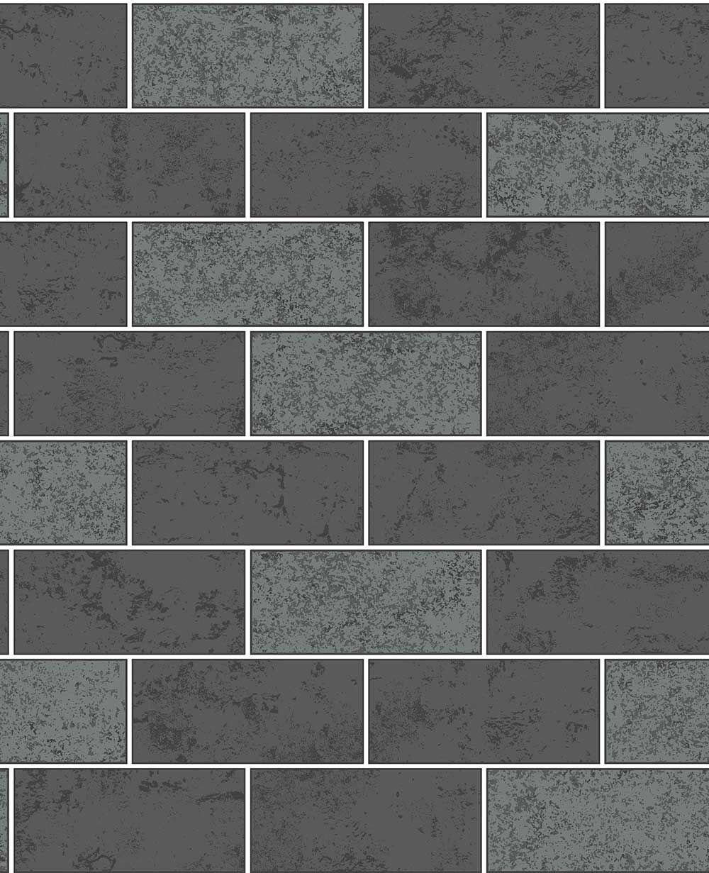 black subway tiles tile wallpaper