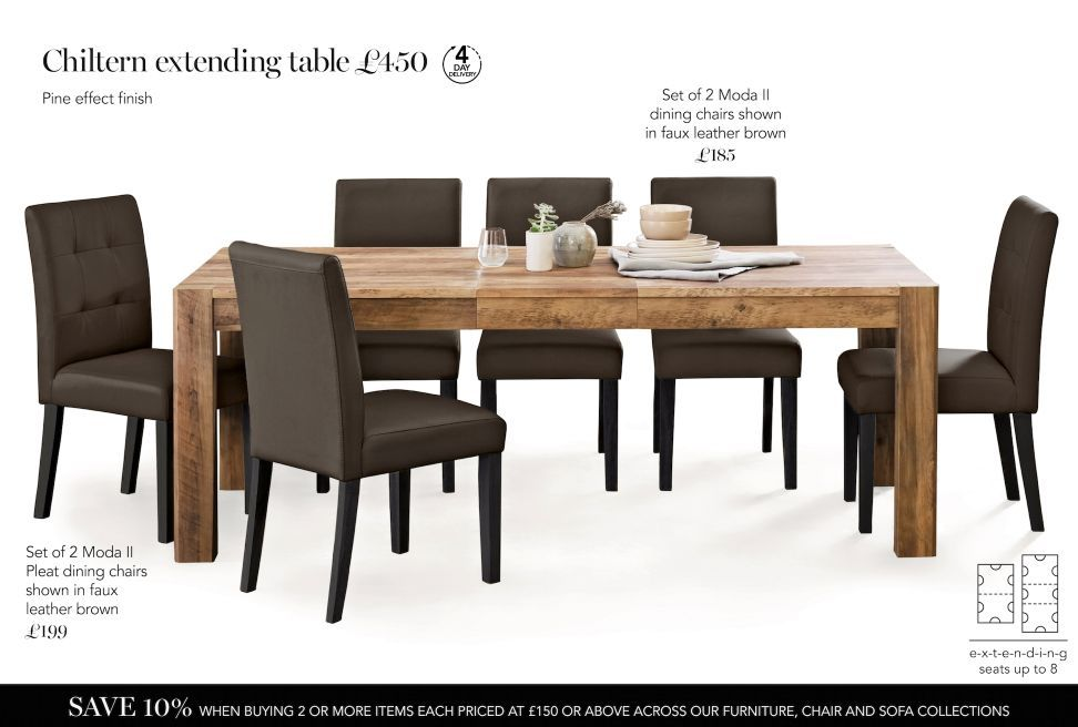 Buy Chiltern 6 8 Seater Extending Dining Table From The Next Uk