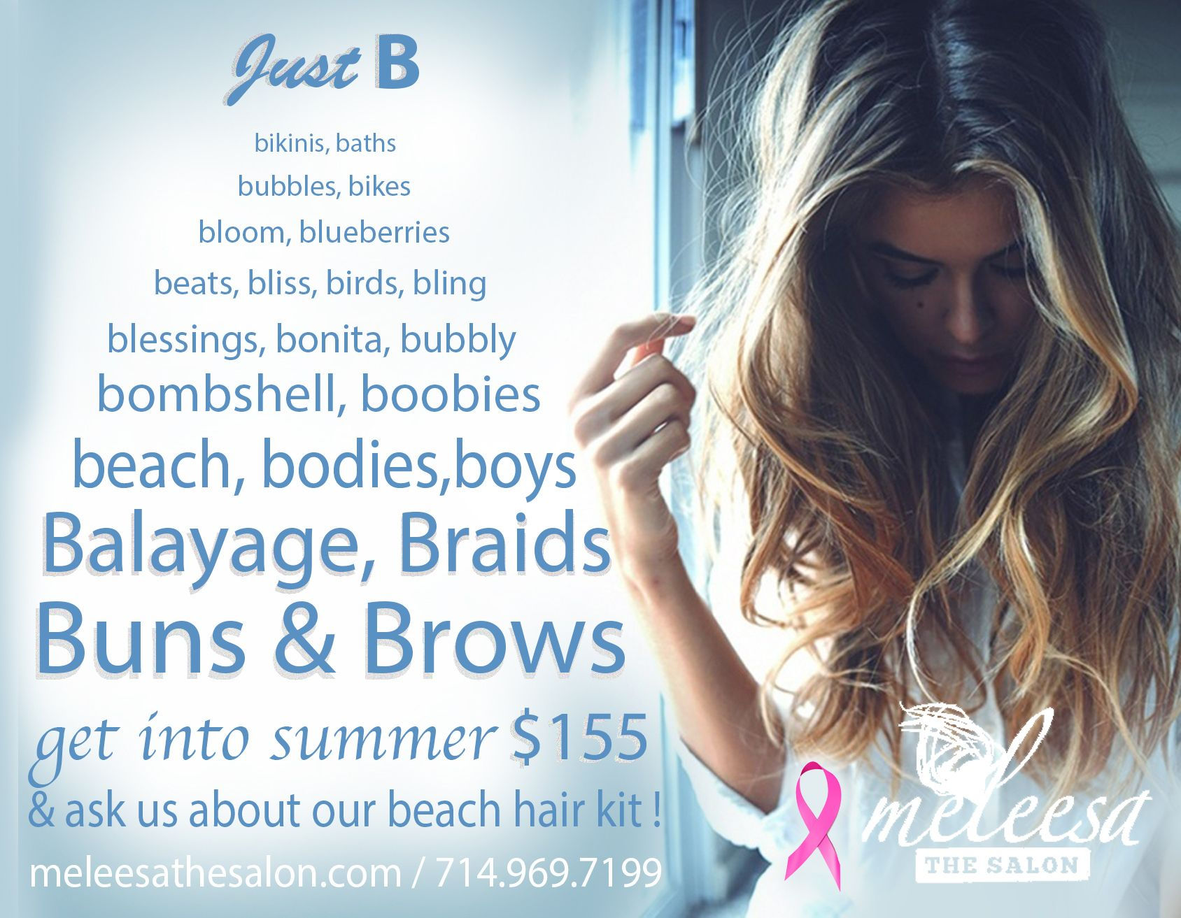 July 16 Meleesa The Salon Promotion: Get into summer with our