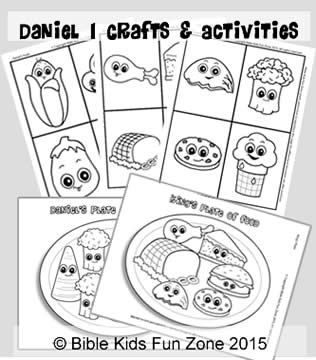 Daniel activities and crafts: Game cards of Daniel's food