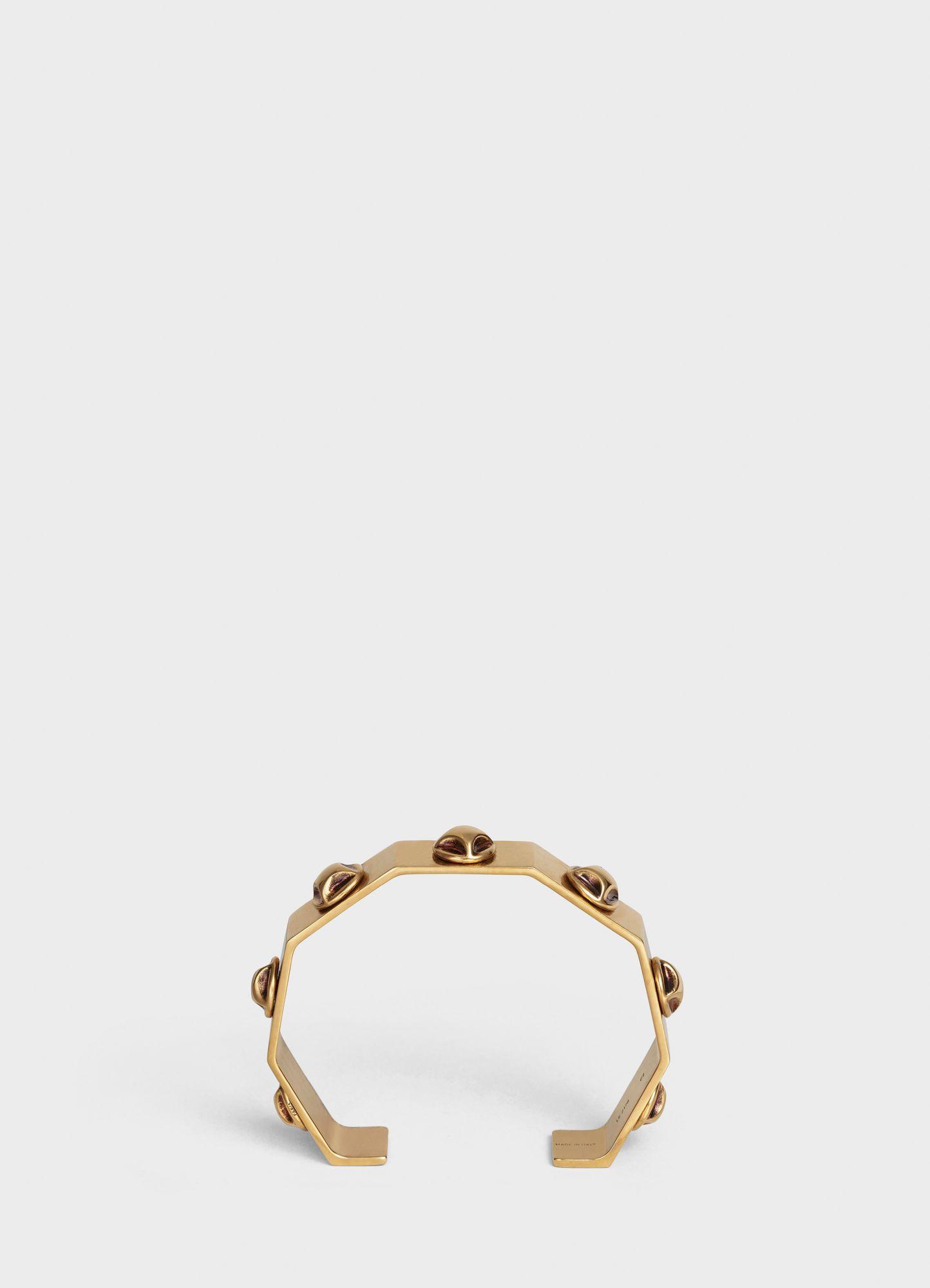Clous Celine Octogonal Thin Bangle In Brass With Vintage Gold Finish Vintage Gold Official Website Thin Bangle Womens Jewelry Bracelets Latest Bracelets