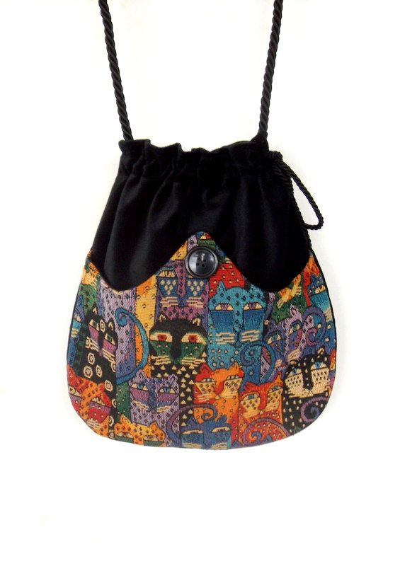 d898c79db9504 Cat Tapestry Bag Black Velvet Bag Boho Bag Colorful Boho Cat Purse  Crossbody…