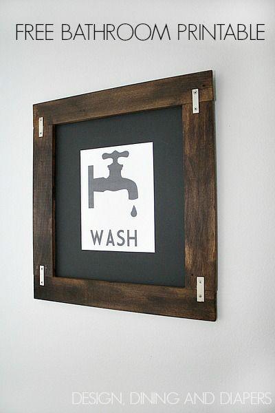 Free Printable Bathroom Art Free Printable Included Bathroom Printables Bathroom Art Printables Free Printable Wall Art Free printable bathroom wall decor