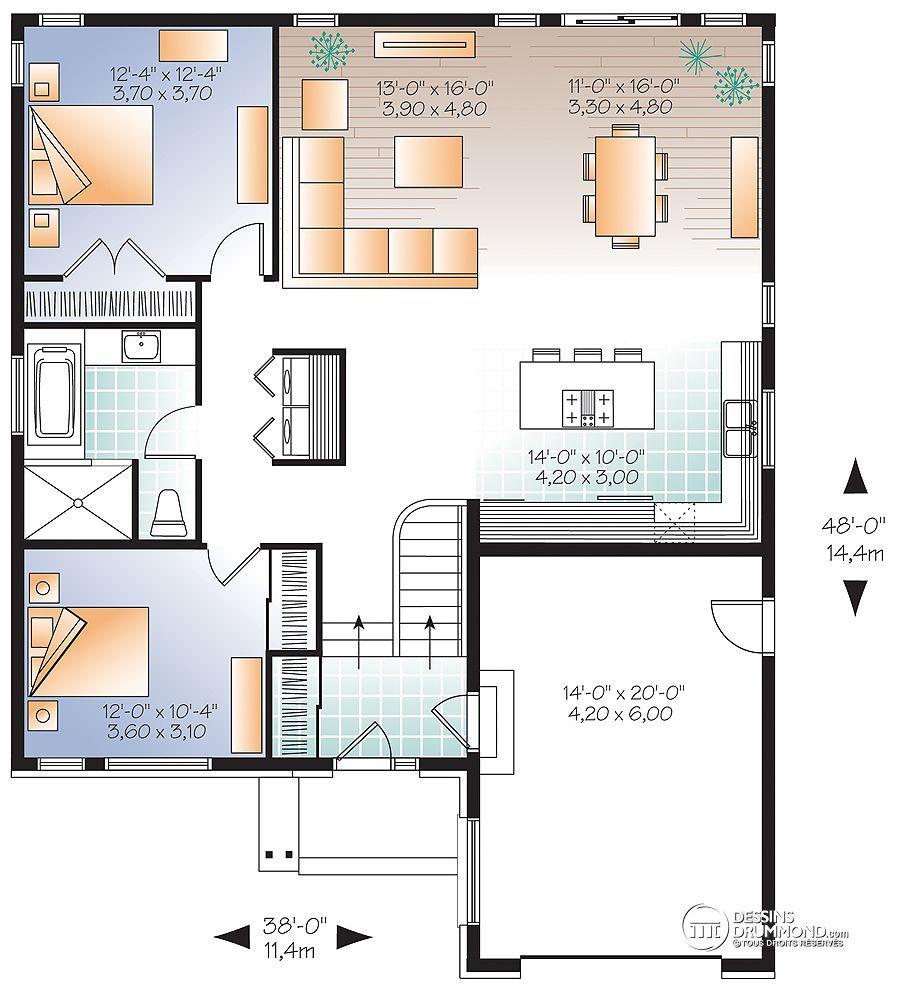 Détail du plan de Maison unifamiliale W3281 | Plans de maisons ...