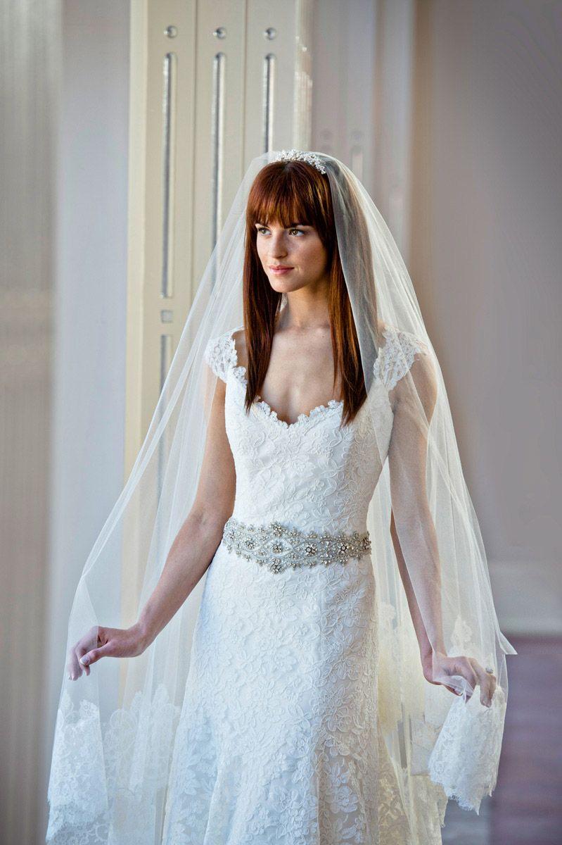 bridal hair straight