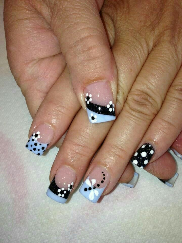 French Tip Dragonfly Nails | nails | Pinterest | Dragonflies ...