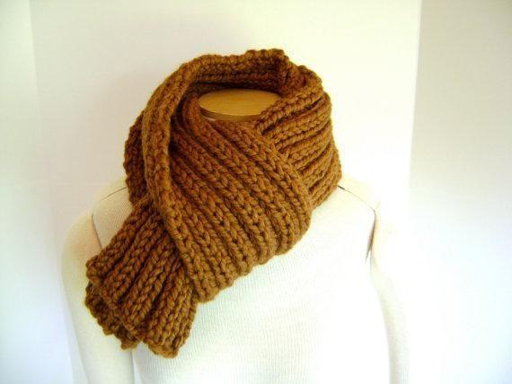 6) Name: 'Knitting : Men's Hazelnut Muffler | Knitting