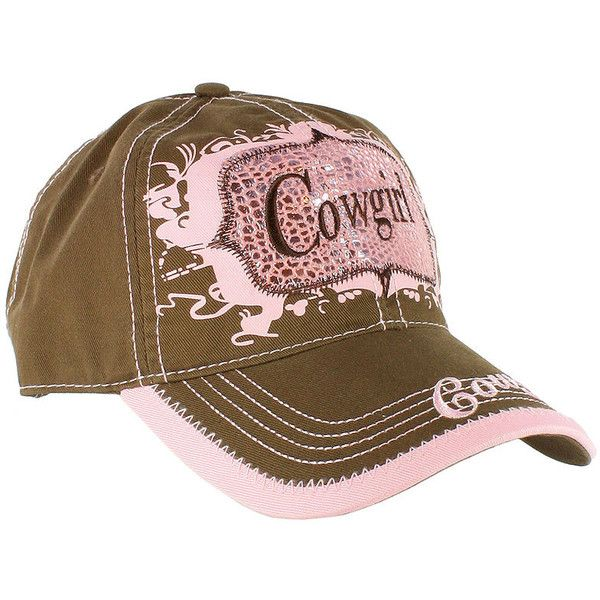 b6411d8df2360 M Women s Cowgirl Ball Cap ( 20) ❤ liked on Polyvore