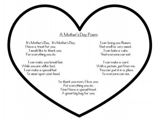 Quick Mothers Day Poem Printable Pinterest Poem
