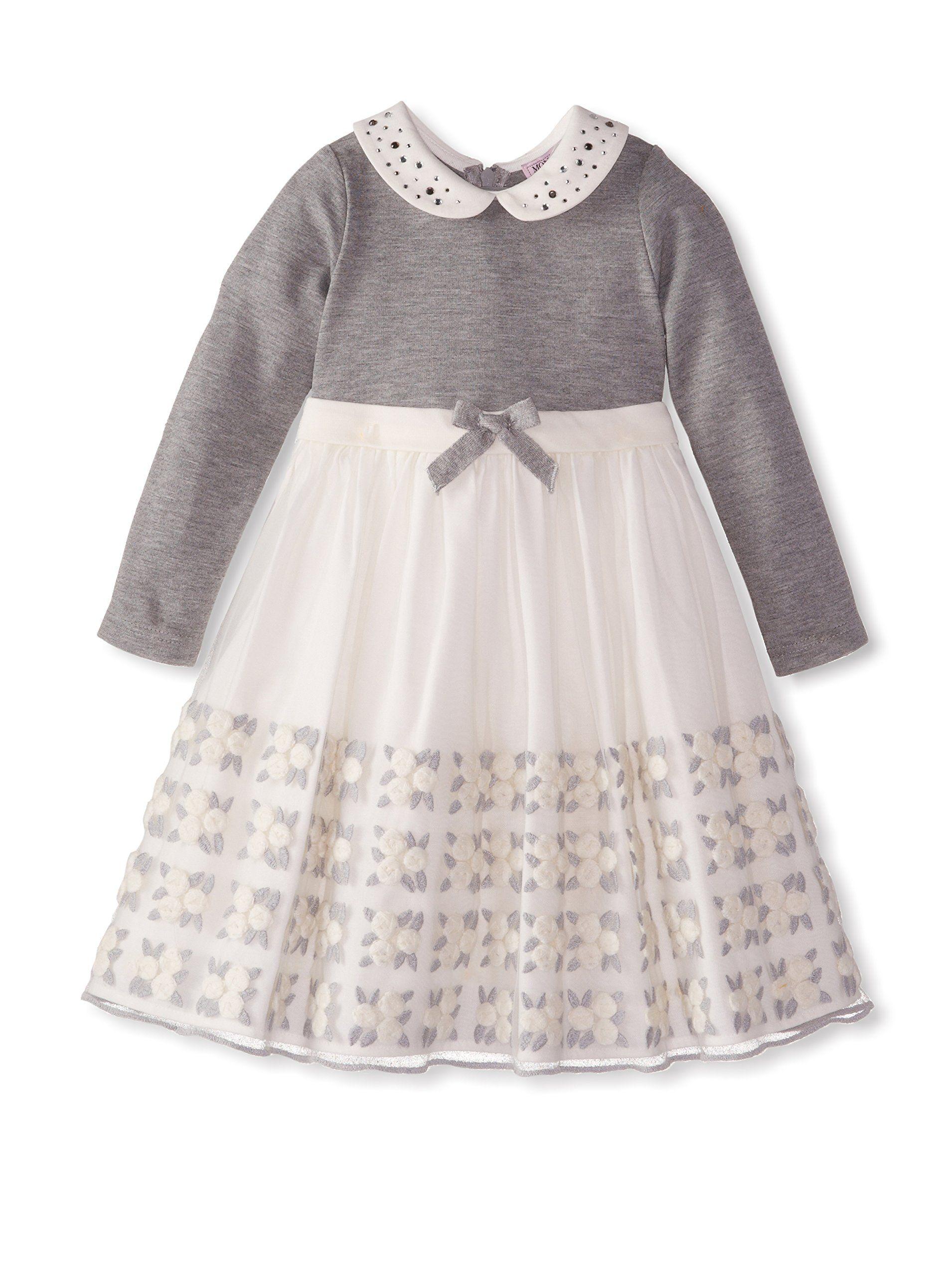 Monnalisa Bebe Kid's Two Tone Dress at MYHABIT