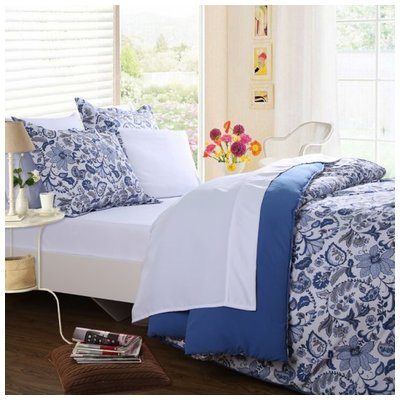 Photo of Affluence, 102542, Comforters, Cobalt Paisley Bed In A Bag Set  Full  102542