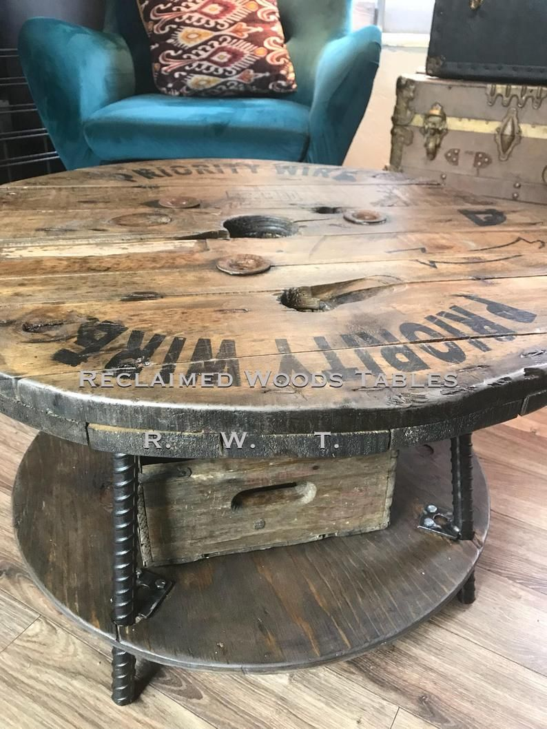 Michaela S Reclaimed Wood Round Cable Reel Spool Table Etsy Coffee Table Wood Spool Furniture Spool Tables [ 1058 x 794 Pixel ]