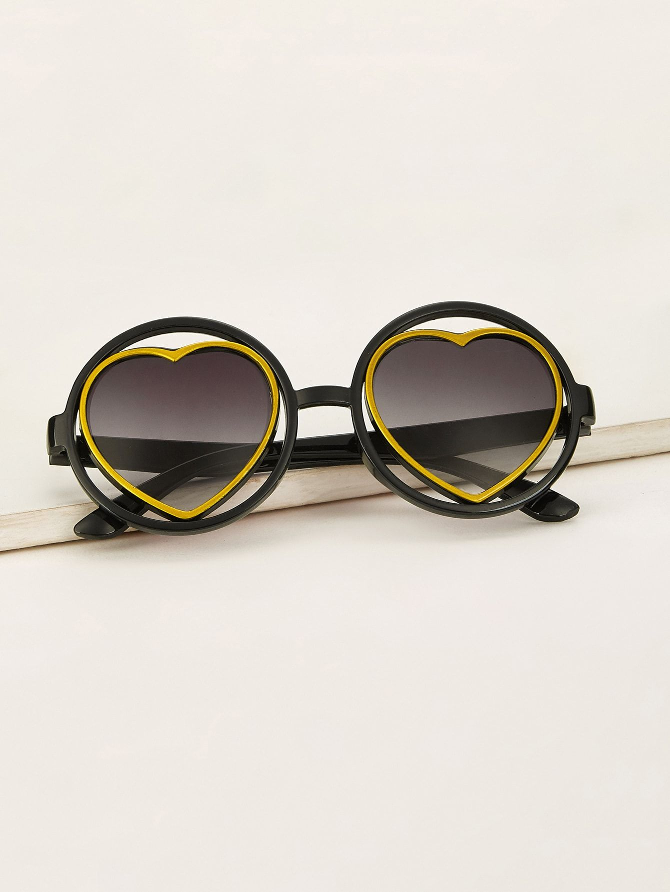 79d7bf92d7e2 Toddler Kids Round Frame Heart Shaped Lens Sunglasses #girls #boys #kids