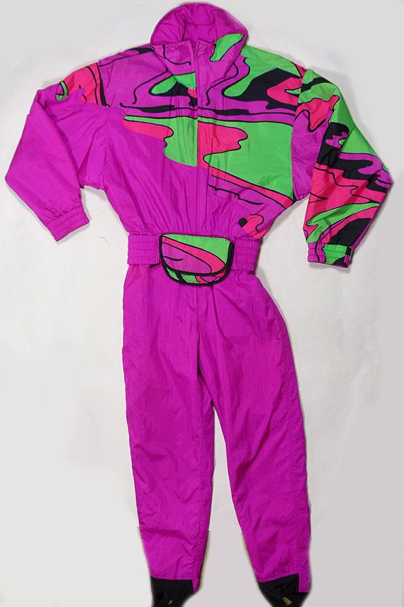 2883b3c9cf Vintage 90 s SNUGGLER NEON Hot Pink Swag Fresh by hermosavintage Ski  Jumpsuit