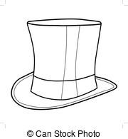 Top Hat Outline Top Hat Illustrations And Clip Art 5 778 Top Hat Royalty Free Hat Illustration Top Hat Hat Drawing