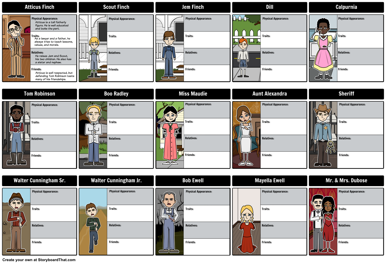 Its easier to follow and analyze each character from to kill a its easier to follow and analyze each character from to kill a mockingbird by creating a biocorpaavc Choice Image