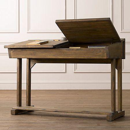 diy make school flip top desk for childrens furniture Sal nogal ...