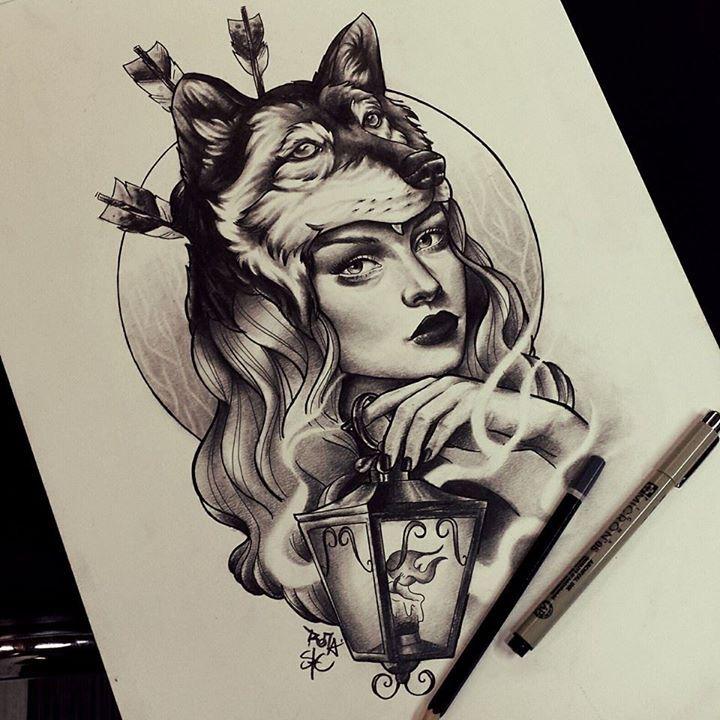 Pin By Nicholas Post On Batman Black And Grey Tattoos Realism Tattoo Girl Face Tattoo