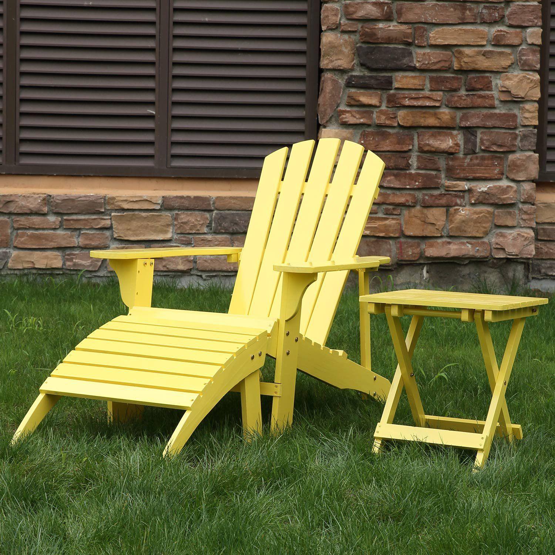 Songsen Fashion Outdoor Wood Adirondack Chairs Muskoka Chair Patio