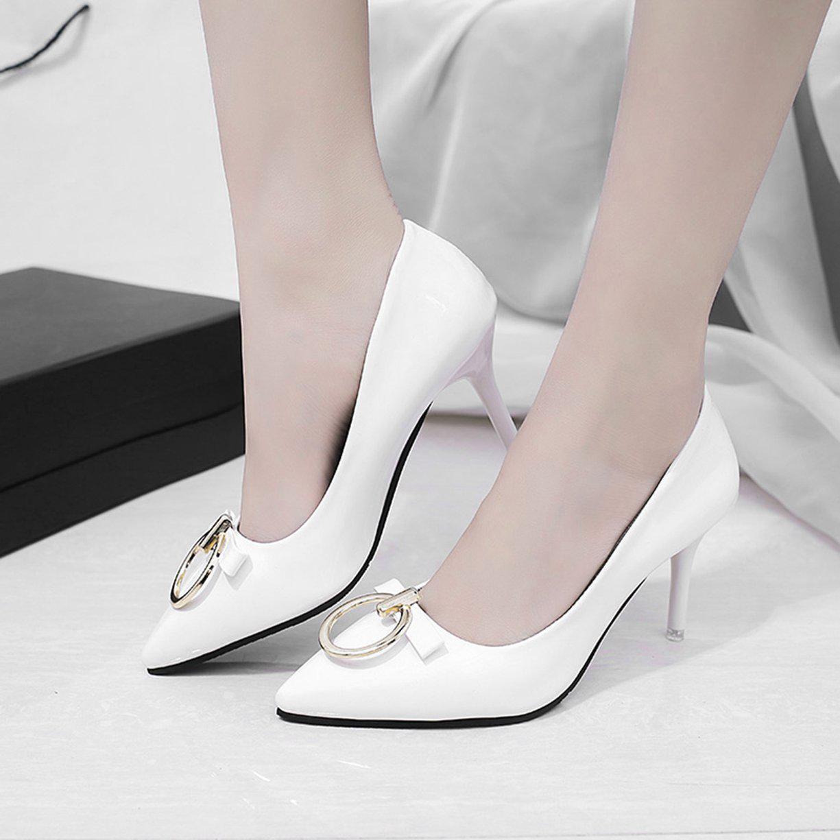 Tener cuidado de nuevo estilo de Precio de fábrica 2019 Las mujeres de AY Corea tacones zapatos solo puntiagudo ...