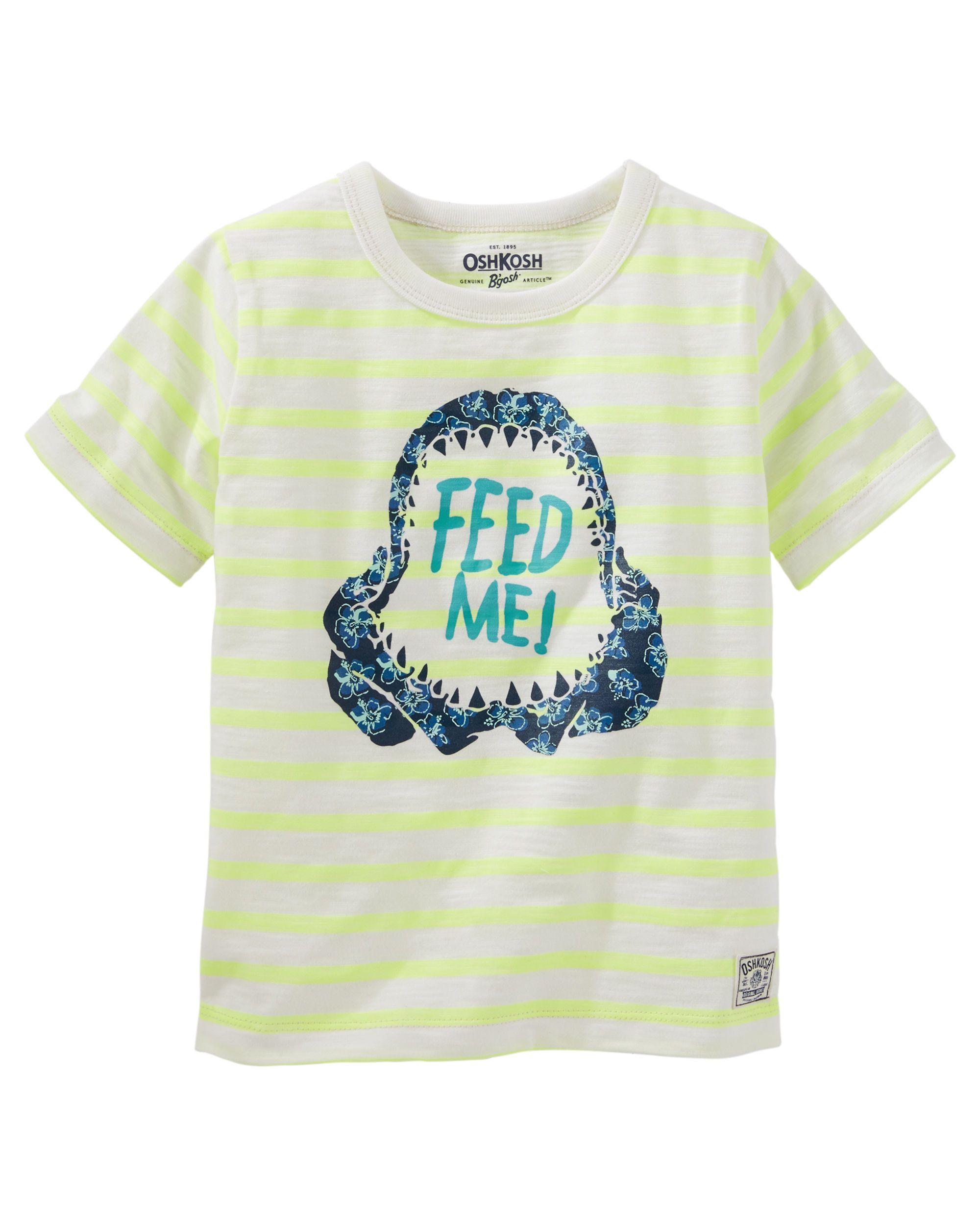 575ae4f2b Toddler Boy Neon Striped Tee | Carter's OshKosh Canada | Children ...