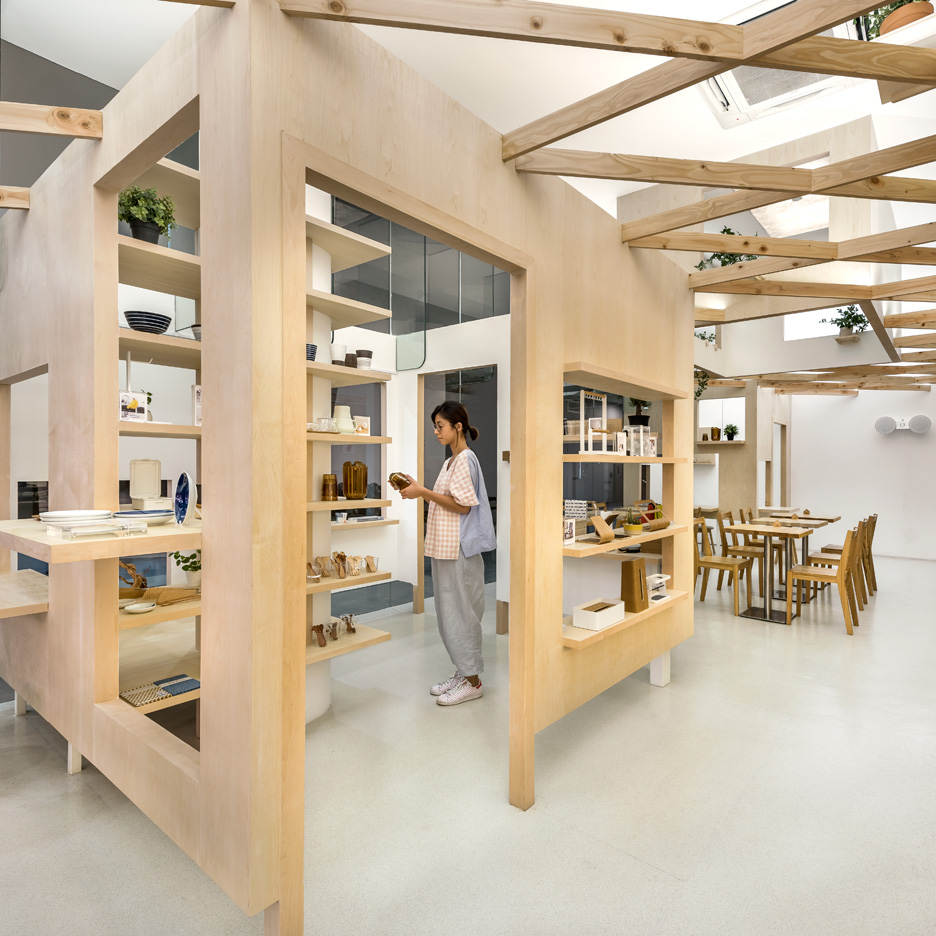 Produce Workshop uses wooden trellis to create connected ...