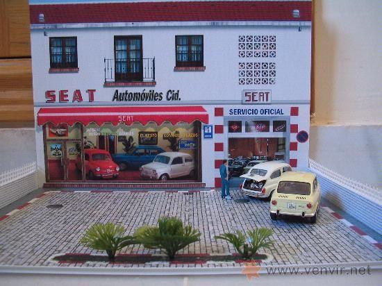 Lote 9992457 diorama para coches 1 43 concesionario seat - Garajes para coches ...