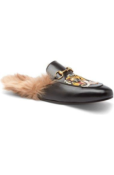 6fd8ad7d686 GUCCI  Princetown  Genuine Kangaroo Fur Lined Loafer (Men).  gucci  shoes   flats