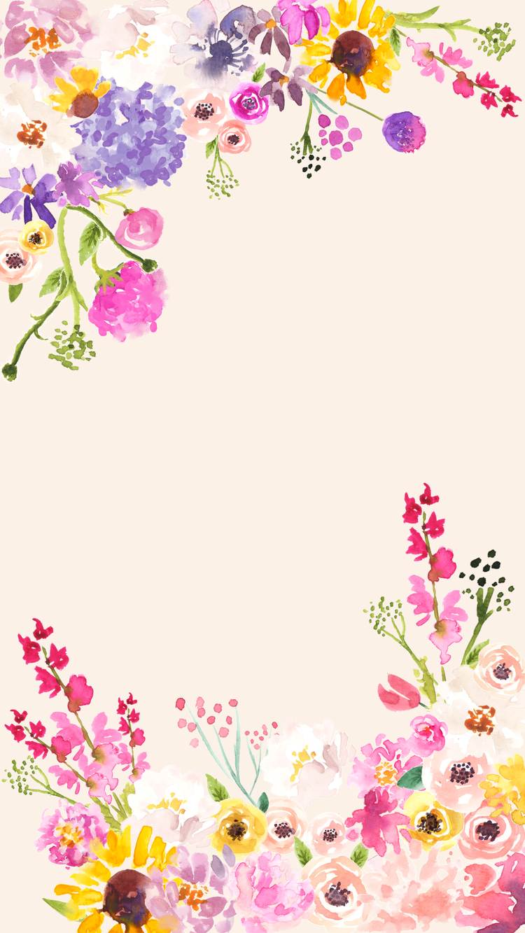 Free Cute Spring Phone Desktop And Zoom Backgrounds Love And Specs Pink Flowers Wallpaper Flower Phone Wallpaper Flower Background Wallpaper