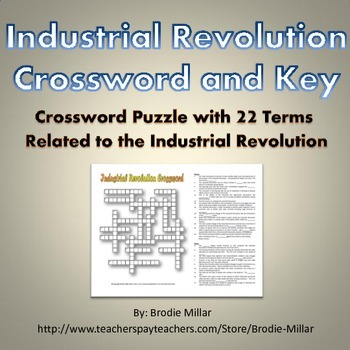 Industrial Revolution Crossword Puzzle And Key 22 Terms And Clues In 2021 Industrial Revolution Industrial Revolution Activities Revolution