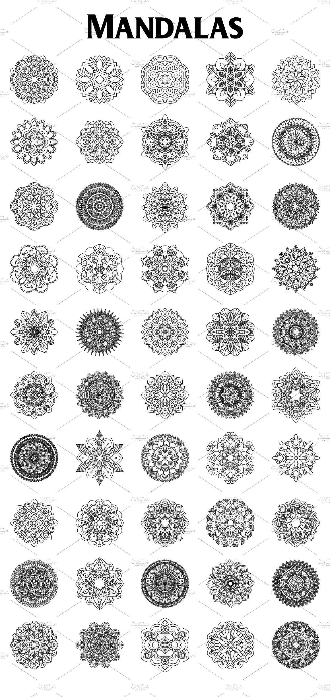 50 Mandalas By Elinorka On Creativemarket