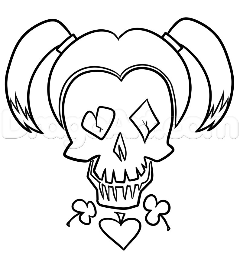 Harley quinn suicide squad coloring pages coloring pages