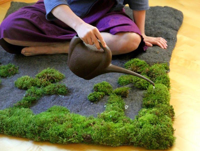 moos teppich selber machen kunst school Pinterest Moos - pflanzgefase aus moos