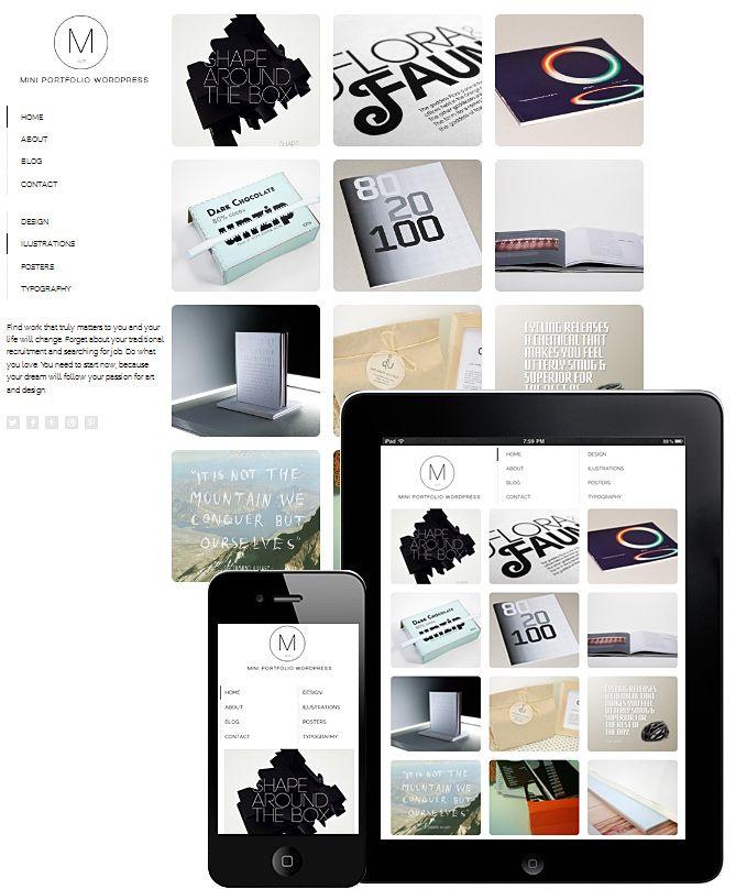 mini portfolio theme responsive | FOLIO | Pinterest | Minis and ...