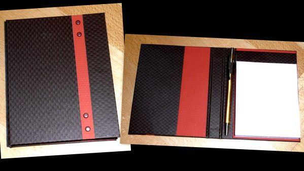 Les cartonnages de Manel / porte carnet marron