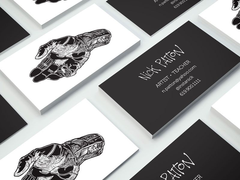 Artist Business Cards Stationary Artist Business Cards