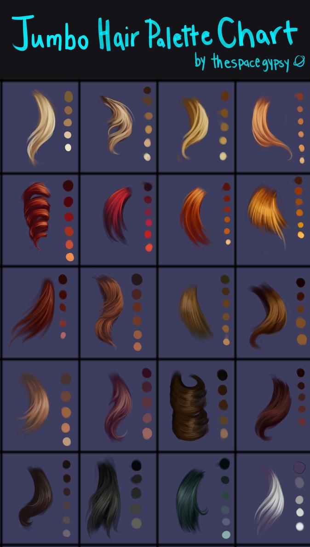 Palette de couleur pour peinture de cheveux